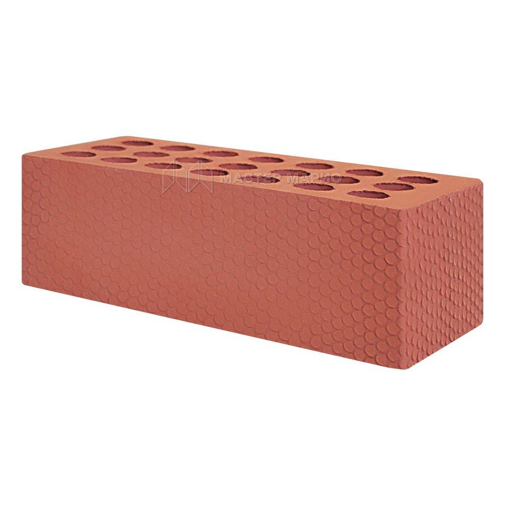 Кирпич лицевой керамический Красный «Мелкий Галечник» пустотелый утолщенный