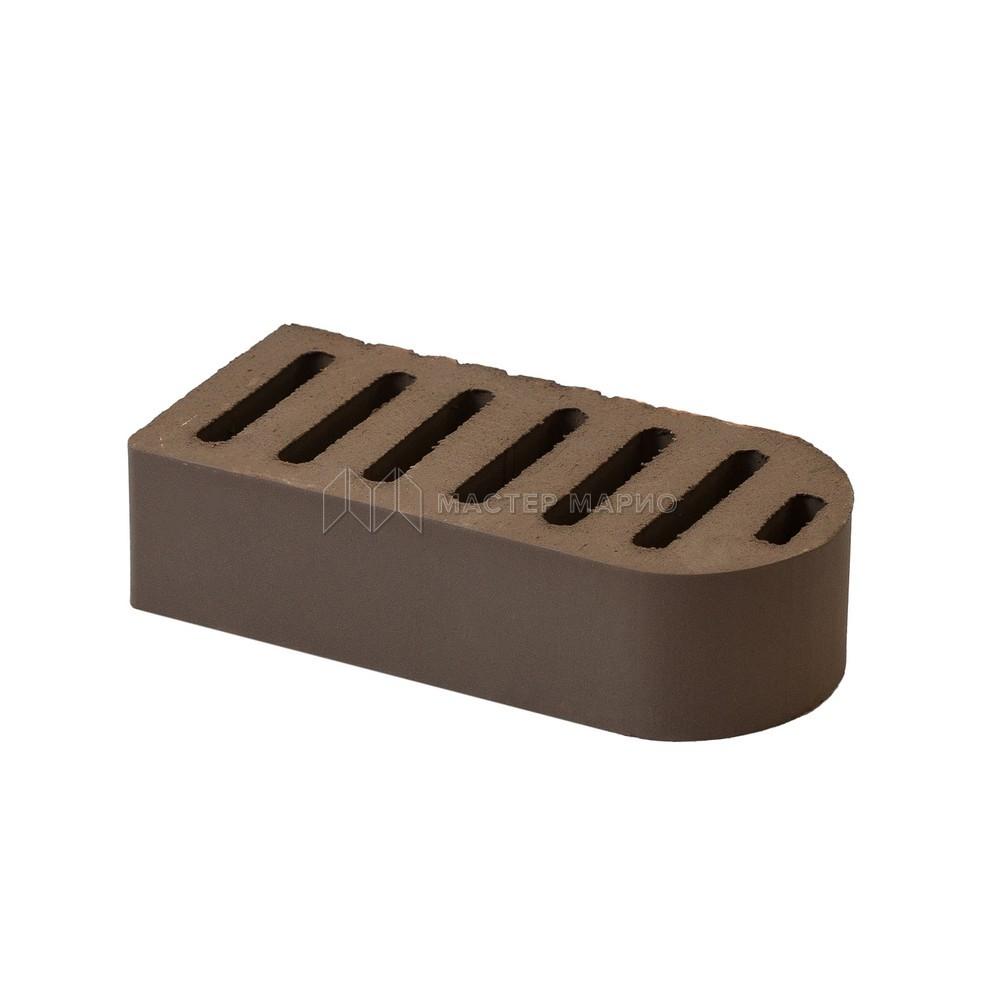 Кирпич фасонный керамический «Коричневый» пустотелый одинарный полукруглый