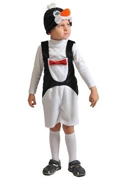Карнавальный костюм Пингвинчик ткань-плюш (полукомбинезон, маска) 3-6 лет