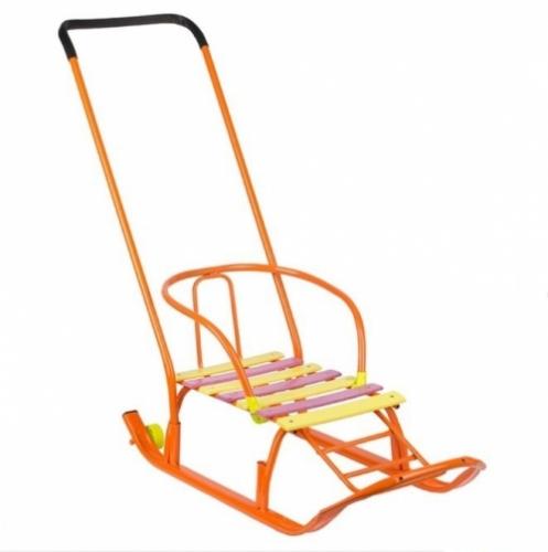 Санки Galaxy Мишутка 1 цвет оранжевый