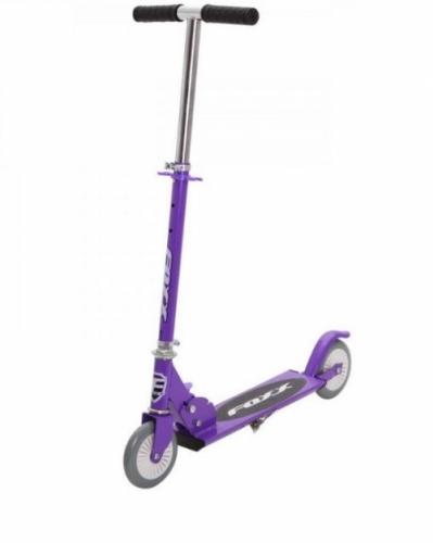 Самокат Novatrack Foxx PU колеса 125мм, фиолетовый