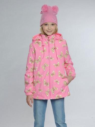 Ветровка для девочек, размер 11, розовая Pelican