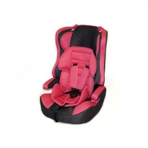Автокресло Teddy Bear LB 513 RF 1/2/3 18.pink/black dot с вкладышем