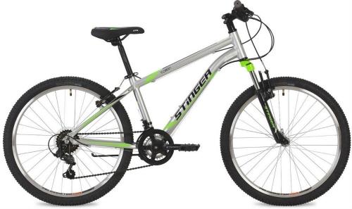 Велосипед Stinger Element, серебристый, рама 24