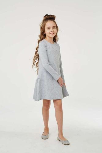 Платье для девочки размер 128, Звезды Ночной синий, УМКА