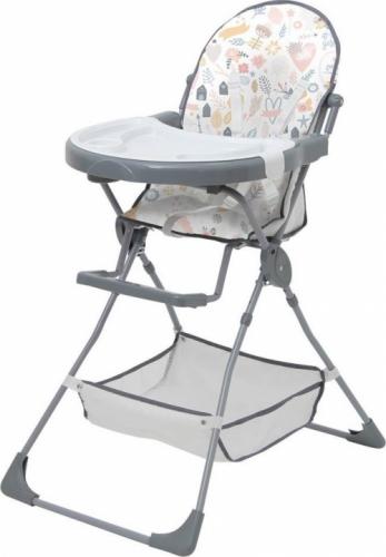 Стульчик для кормления Polini Kids 252 Единорог Hello Baby Серый