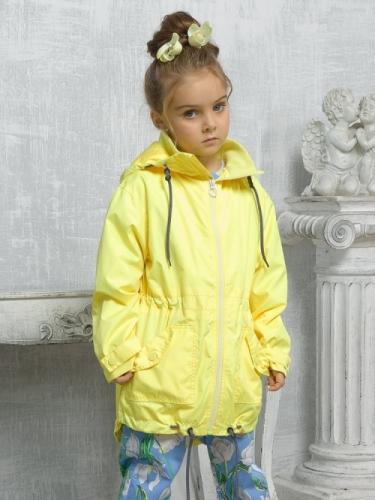 Ветровка для девочек, размер 3, желтая Pelican