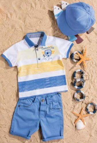 Костюм для мальчика, размер 36 месяцев, бирюза, Bebus