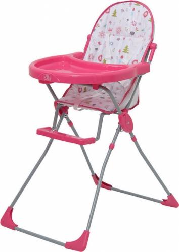 Стульчик для кормления Polini Kids 152 Лесные друзья Розовый