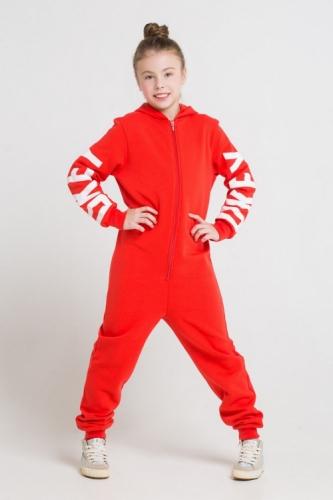 Комбинезон для девочек, Сrockid ярко-красный, размер 128