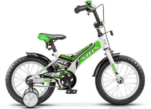 Велосипед Stels Jet, белый/салатовый, рама 14