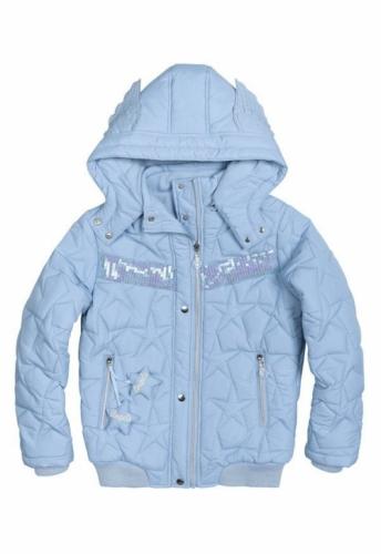 Куртка для девочек, размер 11, демисезонная, голубая Pelican GZWL484