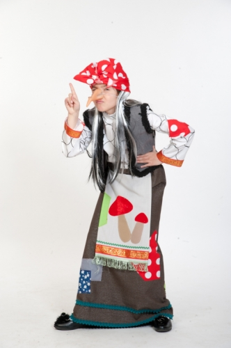 Карнавальный костюм Баба Яга, 7-9 лет