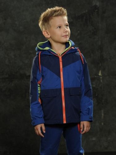 Ветровка для мальчиков, размер 4, темно-синяя Pelican