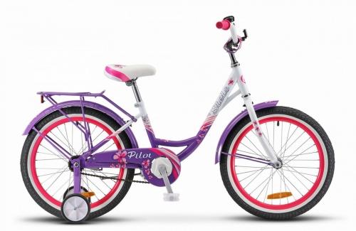 Велосипед Stels Pilot-210 Lady, пурпурный/белый, рама 20