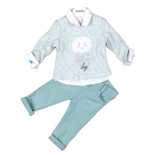 Комплект 3 предмета для девочки, размер 36 месяцев, фисташковый, Bebus