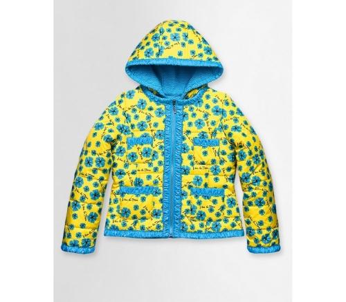 Куртка для девочек, размер 11, весна-осень, желтая Pelican GZWL475