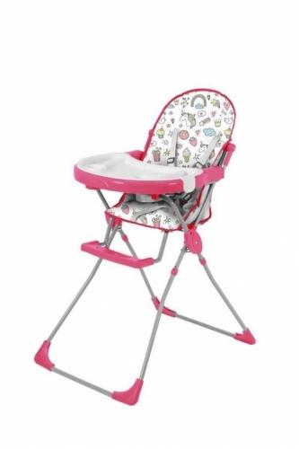 Стульчик для кормления Polini Kids 152 Единорог Сладости Розовый