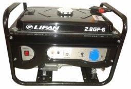 Генератор бензиновый Lifan 2.8GF-6 2800/3200 Вт ручной/электрический запуск