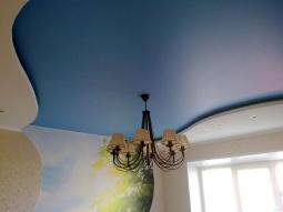 Натяжной потолок Бельгия многоуровневый сатиновый