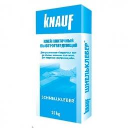 Клей Knauf Шнель для плитки быстротвердеющий 25 кг