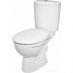 Унитаз -компакт Керамин Лидер арматура Alcaplast косой выпуск жесткое сиденье белый