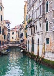 Декор Береза-керамика Азалия Венеция 7 синий 25x35