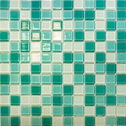 Мозаика Elada Crystal CB401 бирюзовый микс 32.7x32.7