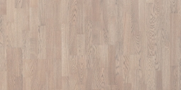 Паркетная доска Polarwood Classic Дуб Ливинг белая матовая 3-х полосная