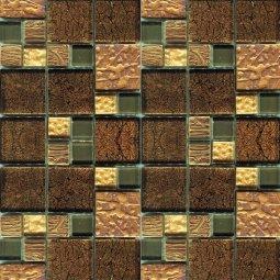 Мозаика Elada Crystal JSM-JB058 шоколадная жатая mix size 32.7x32.7