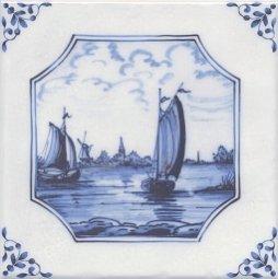 Декор Kerama Marazzi Английский Делфт Корабли 5223\3F 20х20
