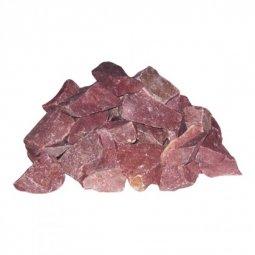 Камень для бани Атлант Камень Кварцит малиновый колотый в коробке 20 кг