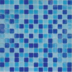 Мозаика Elada Econom на сетке MC128 сине-голубой микс 32.7x32.7