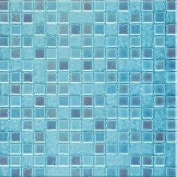 Плитка для стен Сокол Римская мозаика RM3B голубая глянцевая 33х33