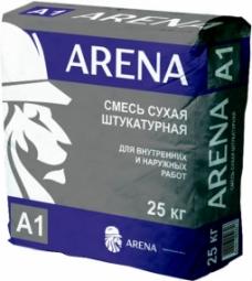 Штукатурка цементная Arena A1 серая 25 кг