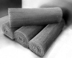Сетка рабица d=1,4 мм, ячейка 30x30 мм, 1500x1000 мм, оцинкованная