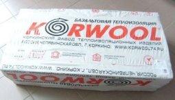 Минераловатный утеплитель Korwool Лайт 40 1200х600х50 мм / 6 шт.