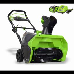 Снегоуборщик аккумуляторный GreenWorks GD40SB бесщеточный с АКБ 4А.ч и ЗУ