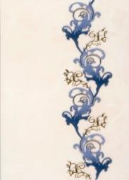 Декор Береза-керамика Магия синий 25х35