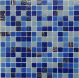 Мозаика Bonаparte Energy синяя глянцевая 32.7х32.7