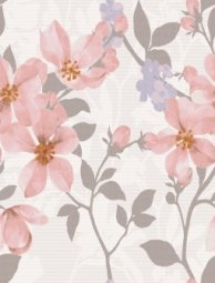 Плитка для стен Lasselsberger Натали Флауэр розовый 25x33