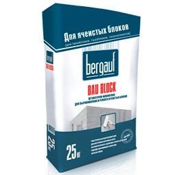 Штукатурка-шпаклевка Bergauf Bau Block цементная 25 кг