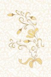 Вставка Golden Tile Карамель бежевый Д70311 200х300