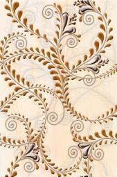 Декор Береза-керамика Елена каприз оранжевый 20х30
