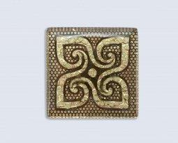 Декор Орнамент Универсальные вставки для пола Персей Gold 2 6.7x6.7