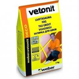 Затирка Weber.Vetonit Deco для швов до 8 мм кирпичный №44 (2кг)