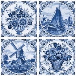 Декор Нефрит-керамика Акварель 04-03-1-14-03-61-136-1 20x20 Синий