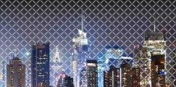Панно Береза-керамика Колибри Город 2 графитный 25х50