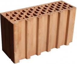 Керамический доборный блок Kerakam 38ST+ 129х380х219 с пазом и гребнем
