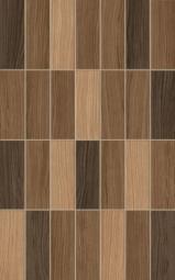 Плитка Golden Tile Karelia Mosaic коричневый  И57161 250х400